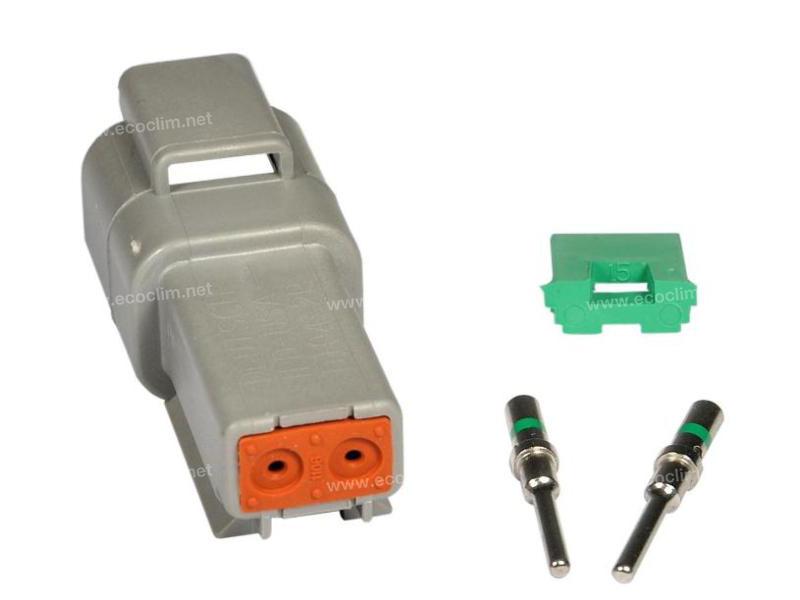 Composant électrique Connecteur DEUTSCH Kit 2 VOIES DT04-2P