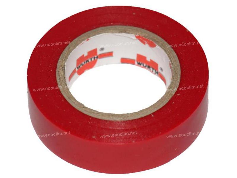 Composant électrique Divers  RUBAN ISOLANT PVC ROUGE
