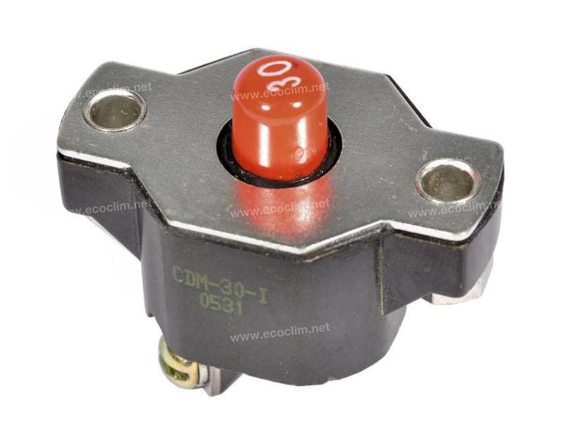 Composant électrique Coupe circuit MANUEL 30 AMPERES | 80417391 - D45090600 |