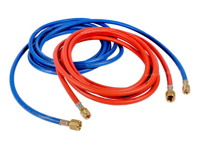 Outillage et consommable Flexible de charge 4m BLEU R134A 1/4-3/8